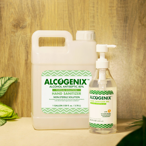 Top Philippines Ethyl Alcohol Producer Enters U.S. Market with Alcogenix Hand Sanitizers