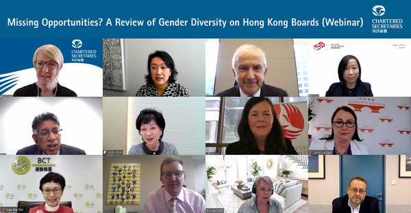 Hong Kong lags behind on the percentage of female directors on the boards of listed companies