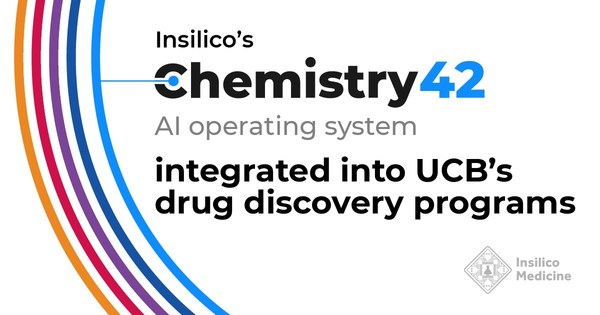 Insilico's Chemistry42 AI system integrated into UCB's drug discovery programs