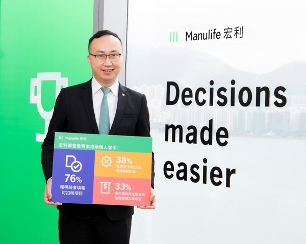 Manulife survey shows Hong Kong taxpayers risk missing out on potential tax savings and benefits