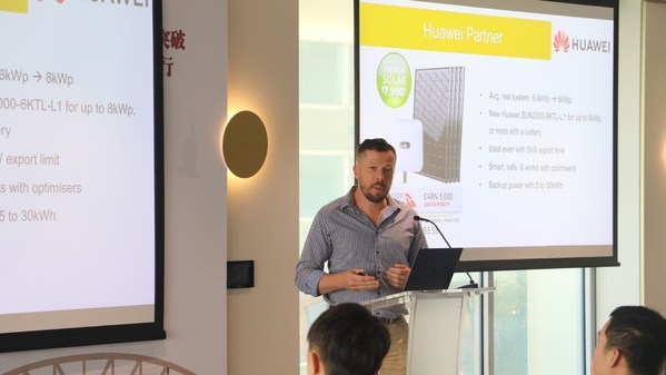 Keera Single, CEO of Solargain, sharing his experience with Huawei