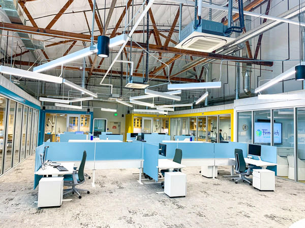 Interior view of Firmenich's newly designed West Coast Innovation Center in Anaheim, CA, which offers closer collaboration with customers.