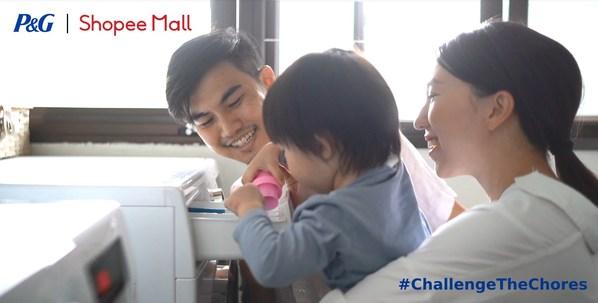 P&G dan Shopee berkolaborasi untuk mendorong kesetaraan gender dalam pekerjaan rumah tangga lewat kampanye terbaru #ChallengeTheChores