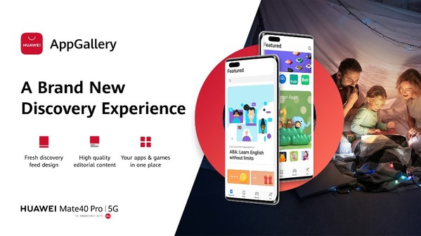 Huawei Mobile Services Unveils All-New User Interface for AppGallery to Make App Discovery a Scroll in the Park