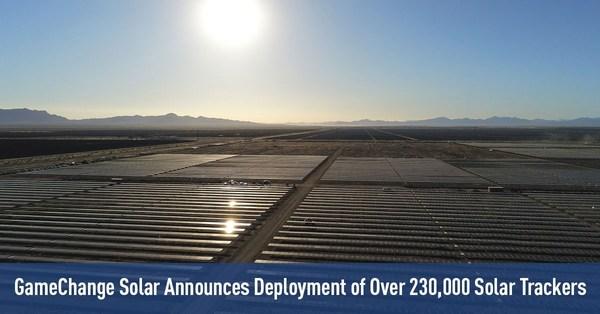 GameChange Solar, 230,000개 이상의 태양광 추적장치 배포 발표
