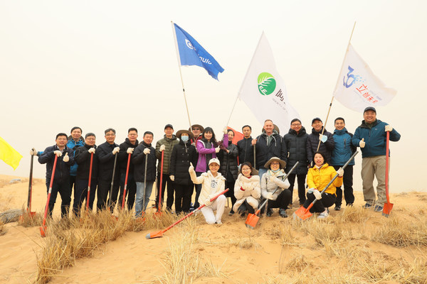 Air Liquide partners with SEE Foundation to plant saxaul trees in Alxa