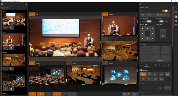 5. 分屏显示多台摄控一体机捕捉的图像(示意图)