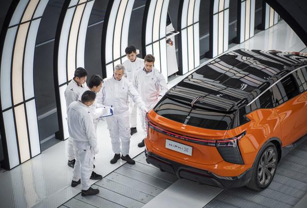 完成線採用雙色溫燈廊確保HiPhi X百萬豪車級外觀質量