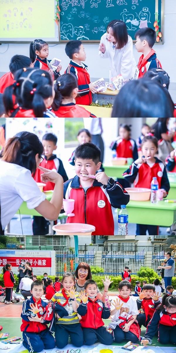 学生们积极参与口腔健康教育活动