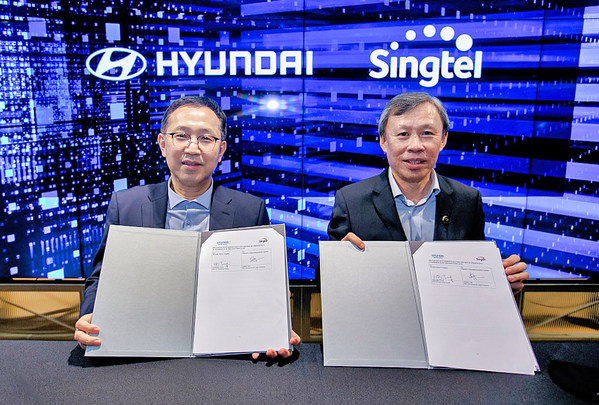 Hyundai Motor Company and Singtel today signed a Memorandum of Understanding (MOU) to collaborate on a range of ventures to support smart manufacturing and connectivity for electric vehicle battery subscription service