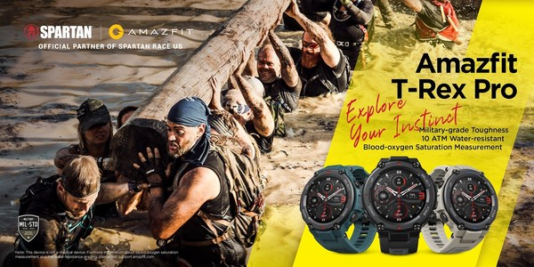 Rugged Military-Grade Smartwatch is the Ultimate Partner for Challenging Military-Grade Obstacle Course, Amazfit Partners with Spartan