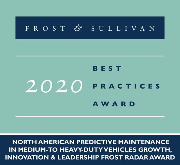 2020 North American Predictive Maintenance in Medium-to Heavy-duty Vehicles Growth, Innovation & Leadership Frost Radar Award