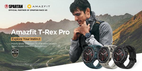 Amazfit T-Rex Pro:バッテリー寿命最長18日、タフなミリタリーグレードのスマートウオッチ(注1)