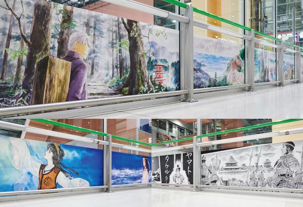 漆原友紀的《朝聖之路》(上),裡中滿智子的《海之路》(左下),安彥良和的《神話之路》(右下)