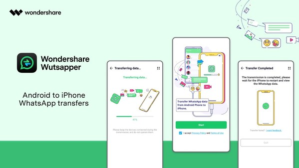 Wondershare Wutsapper: Transfer WhatsApp Data from Android to iPhone