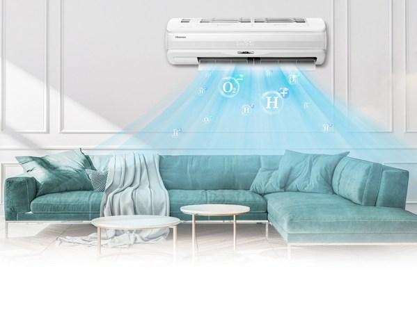 HI-NANOテクノロジーを搭載したハイセンスのフレッシュマスター・エアコンは欧州の多くの市場で2021年5月に発売予定。