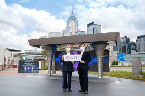 Mr Andrew Young, Associate Director (Innovation), Sino Group (Left) and Dr Jimmy Tong, Associate, Arup (Right) presented the features of the award-winning  City Air Purification System 2.0.