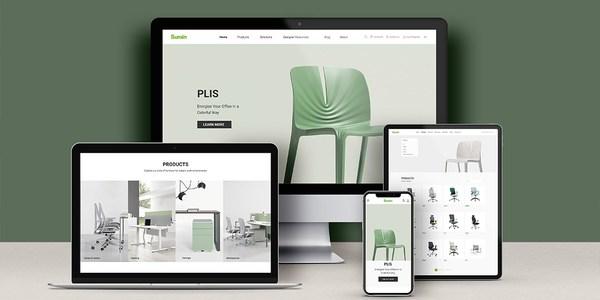 Nhà cung cấp nội thất không gian làm việc hiện đại, Sunon, ra mắt trang web giao diện mới