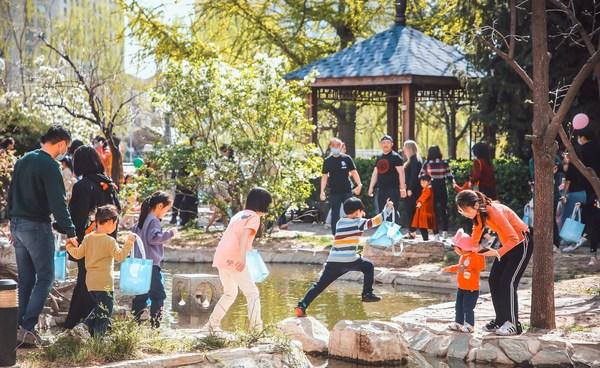 北京凯宾斯基饭店花园复活节寻蛋活动