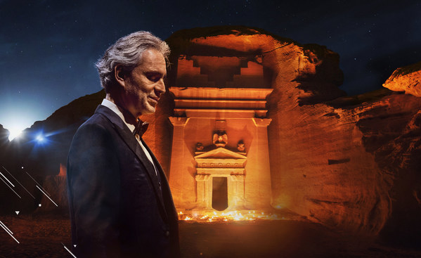 Maestro Andrea Bocelli at Hegra Live and Free on YouTube: The Royal Commission for AlUla