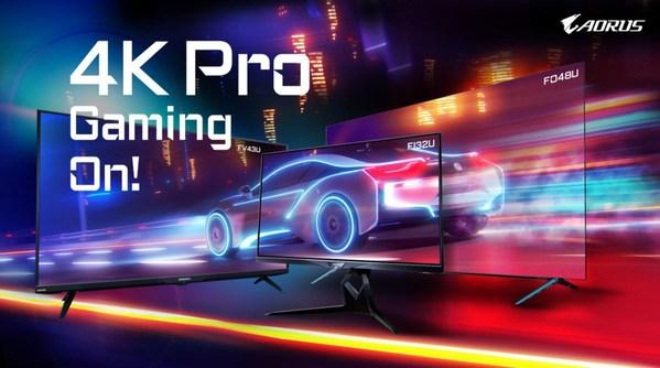 4K大军压竞!技嘉AORUS 4K战术型电竞萤幕全球开卖