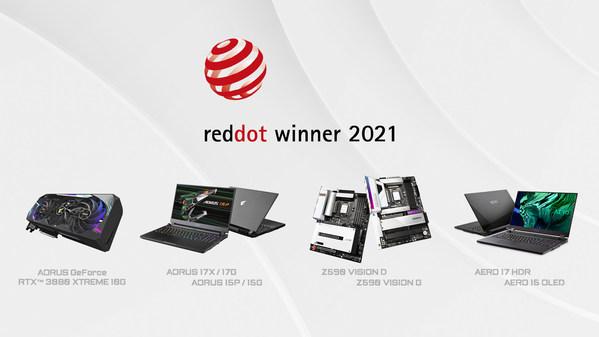 GIGABYTE กวาดรางวัลจากเวที Red Dot Design Awards 2021