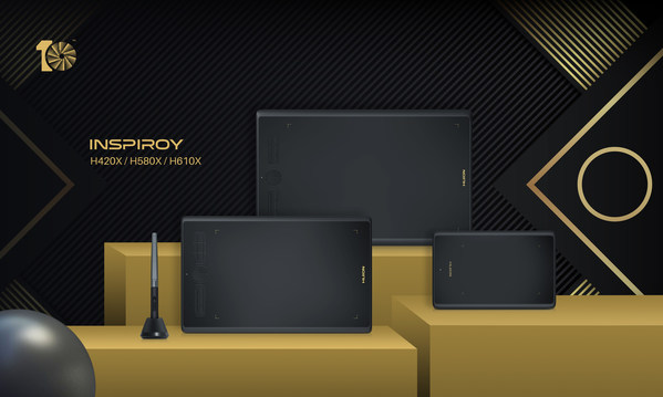 Huion Unveils Inspiroy H420X, H580X, and H610X: Tenth Anniversary Special Edition to Empower Every Artist Around the World
