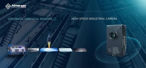 Hypersen Chromatic Confocal Sensor and High-Speed Industrial Camera