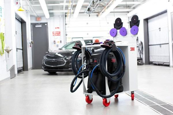 环保进行时 | 钣喷车间新升级趋势?3M的新型移动式干磨集尘系统来了