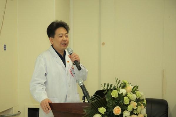 黑龙江省医院副院长陈鹏在启动仪式上致辞