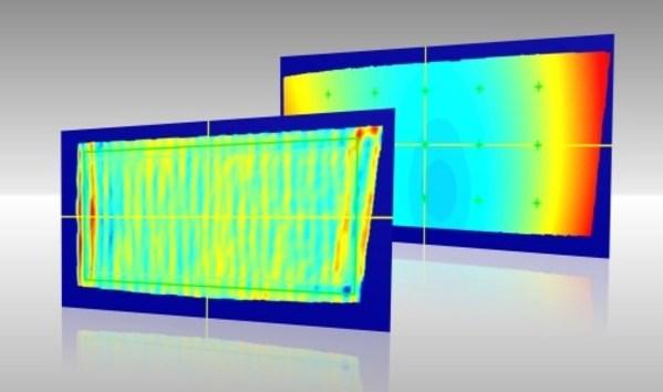 偏转镜的高度和曲率偏差图 (R)ISRA VISION
