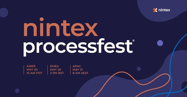 Automation Event of the Year - Nintex ProcessFest® 2021 - Goes Virtual on 20 May