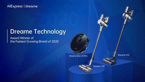 Dreame Technology Awarded as the Fastest Growing Brand by AliExpress
