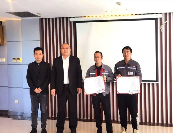 SGS通标为北京中车赛德颁发中国首张受电弓TSI认证证书