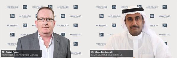 (Left) Gerard Byrne, Managing Director, Archipelago Overseas (Right) Khaled Al-Amoudi, Chief Executive Officer of Jabal Omar Development Company