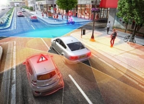 环绕式雷达能够更早、更准确地探测到穿行的车辆、摩托车和自行车。