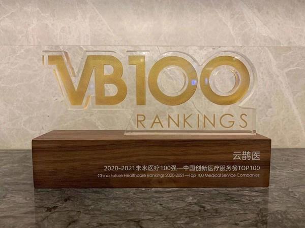 云鹊医荣登2020-2021未来医疗100强——中国创新医疗服务榜TOP100