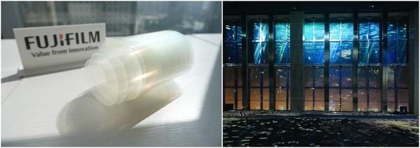 富士胶片透明投影膜曾助力上海环球金融中心观光厅光影秀,呈现虚实结合效果