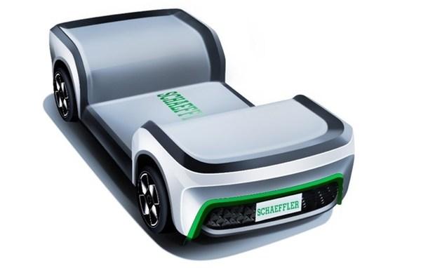 舍弗勒线控一体化底盘可通过搭配不同车身,实现多种车辆概念,如Schaeffler Mover,满足不同自动驾驶场景的应用需求