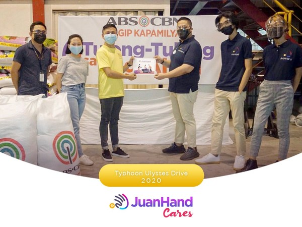 JuanHand Cares: JuanHand team collaborates with ABS-CBN Foundation to help the victims of flood-stricken communities during the Typhoon Ulysses Drive last December 2020.