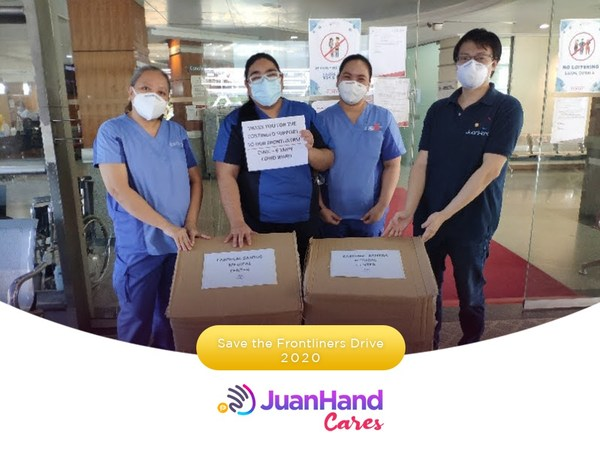 JuanHand Cares: JuanHand team collaborates with medical frontliners from various hospitals around Mega Manila area to extend more help by giving communities of nurses and doctors Personal Protective Equipment in their fight against the COVID-19 pandemic.