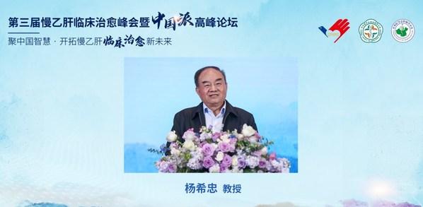 中国肝炎防治基金会常务副理事长杨希忠教授