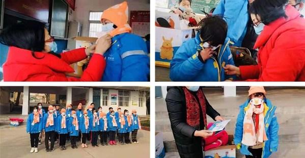 为凝冻灾区和西部高寒山区的儿童和孤儿捐赠150个温暖包