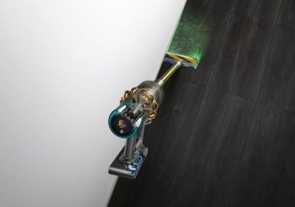 V15 Detect无绳吸尘器配备激光探测功能,让隐藏的微尘显形