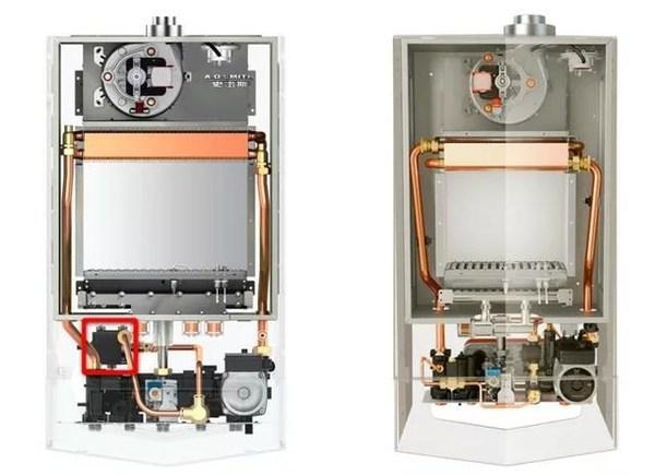 新品L1PB-V9(左)与原L1PB-S(右,无即热循环引擎)