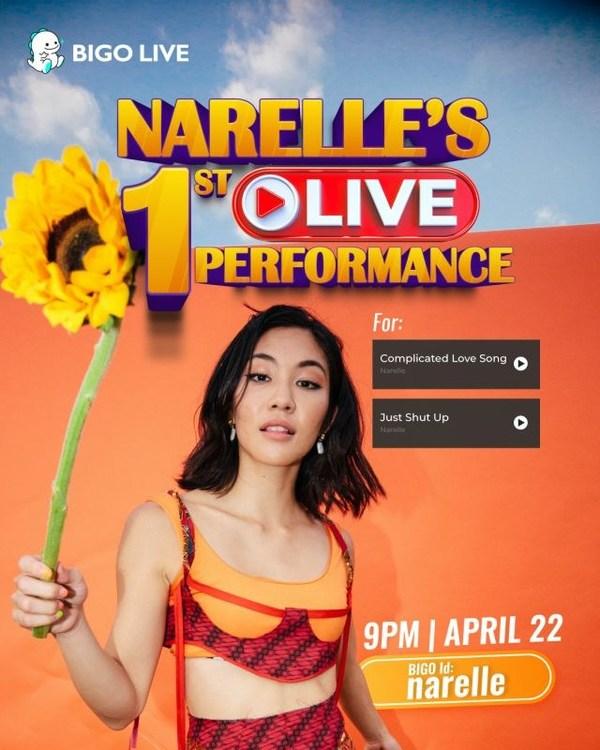 Catch Narelle's mini concert livestream on 22 April.