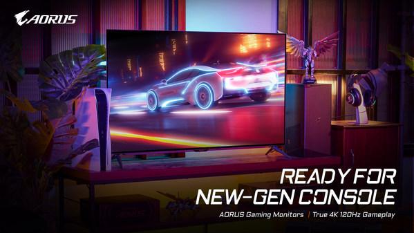 GIGABYTE AORUS 4Kゲーミングディスプレイは次世代ゲーム機に対応