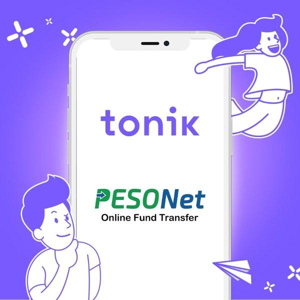 Transfers to Tonik now available via PESONet