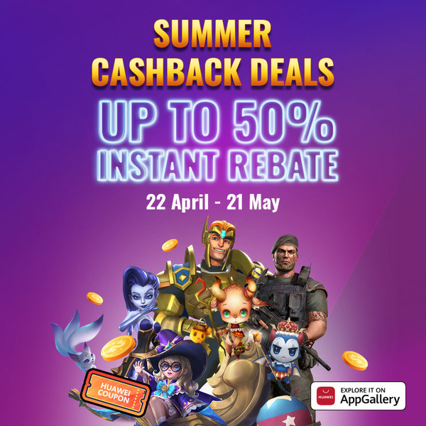 HUAWEI AppGallery kickstarts the summer for Hong Kong users with cashbacks and exciting prizes to be won