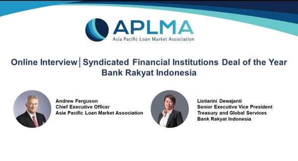 """印尼人民银行荣获APLMA颁发的""""2021年度财团金融机构交易""""荣誉"""